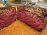 perfect steak at medium cooked