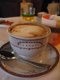 Cappuccino at Da Fiore