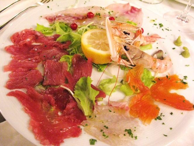 Mixed fish Carpaccio