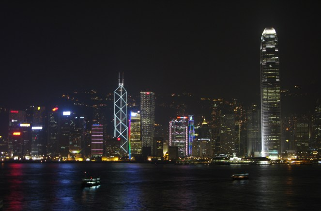 Hong Kong Victoria Harbour by night