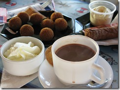 Hot Chocolate with Frikendel & Bitterballen