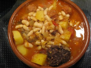 Spanish Stew with Morcilla, Chorizo and Cannellini beans