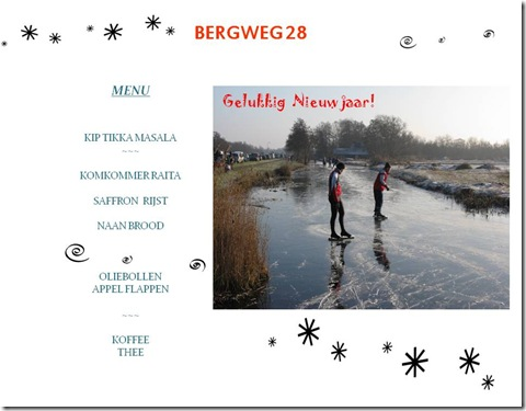 Bergweg 28 New Year's Lunch Menu