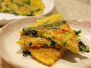 Pajeon cut into pieces