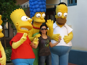 Simpsons & me in Universal Studios