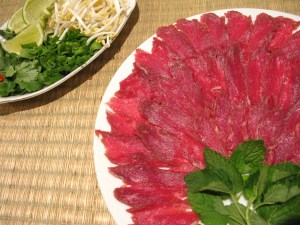 Thinly sliced filet mignon