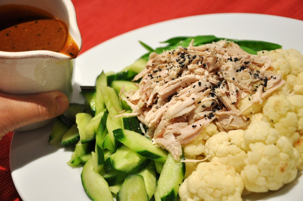 Handpull chicken warm salad