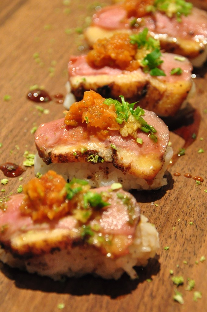 duck breast nigiri sushi