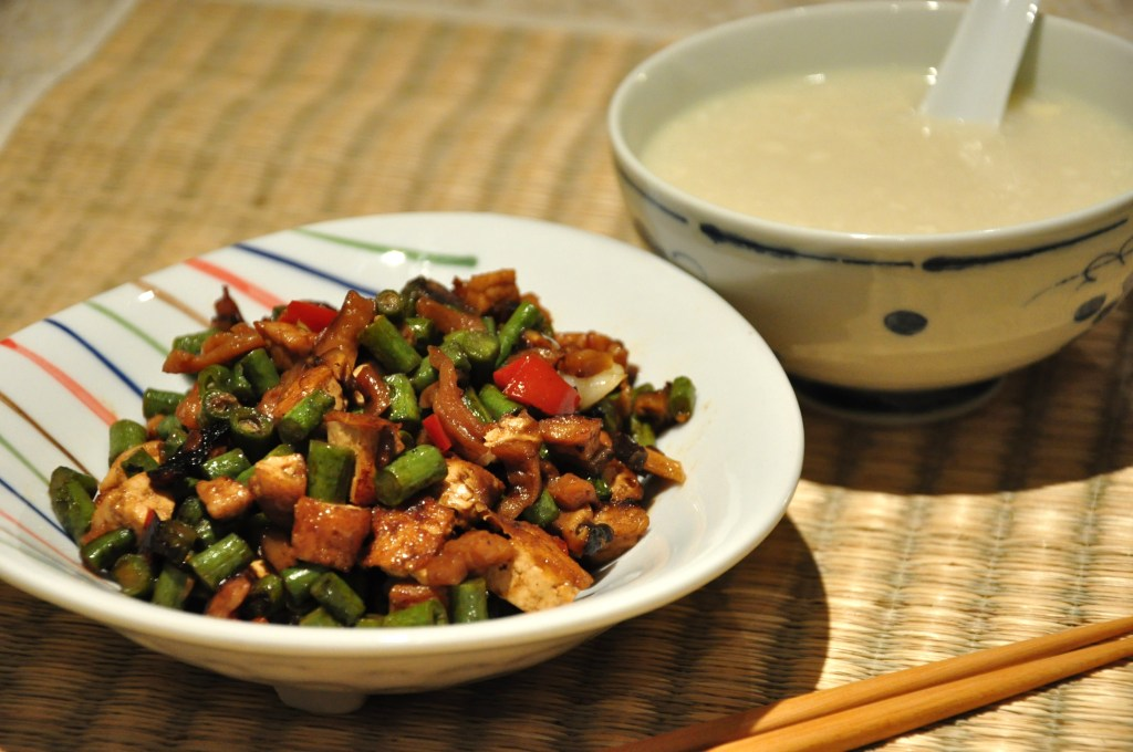 Chiu Chow Style Stir fried pork with snake beans