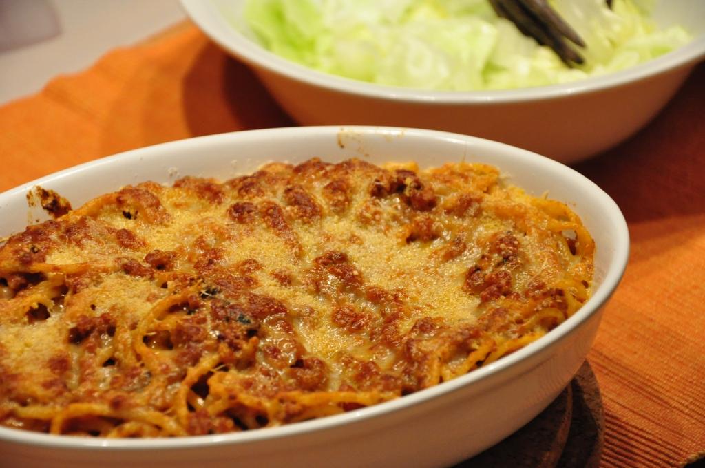 HK style baked spag bol