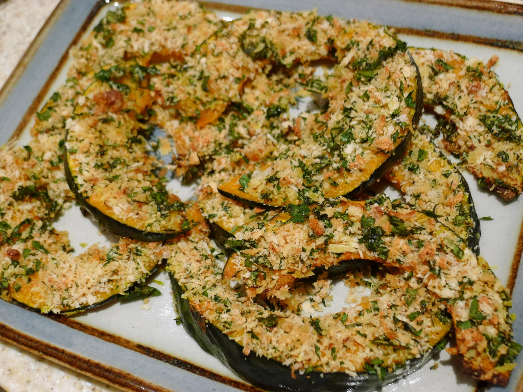 Ottolenghi's roasted crusted Kabocha squash wedges