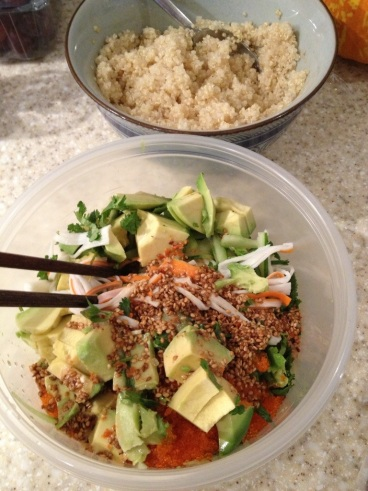 Surimi tobiko salad 03