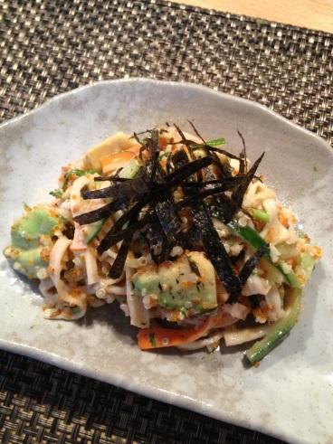 Surimi tobiko salad 02